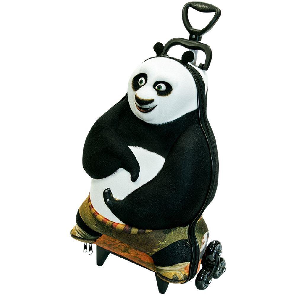 Mochilete de rodinha Kung Fu Panda  3D (Não acompanha Lancheira)