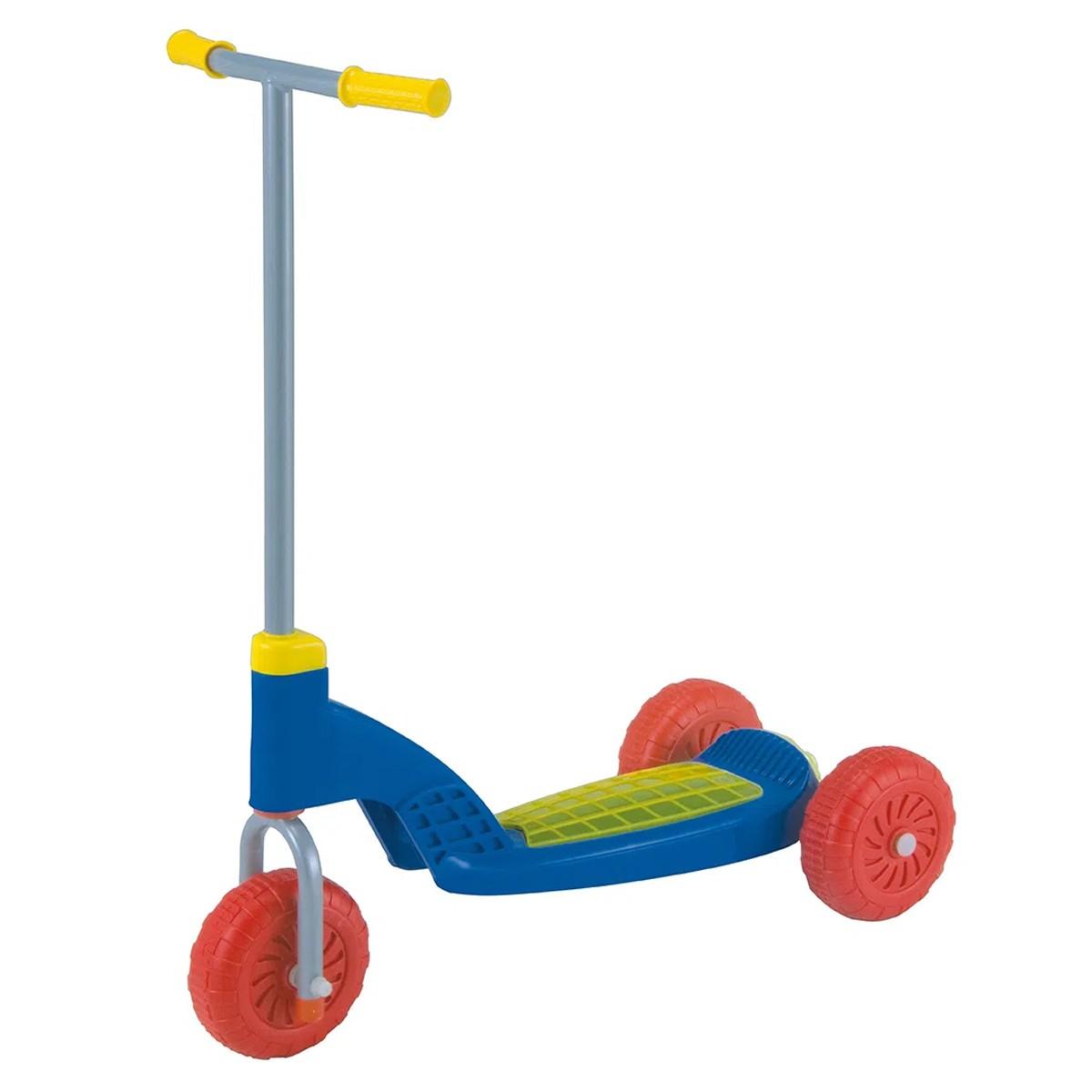 Patinete  Azul/Vermelho Vapt Vupt Magic Toys Com Luzinhas