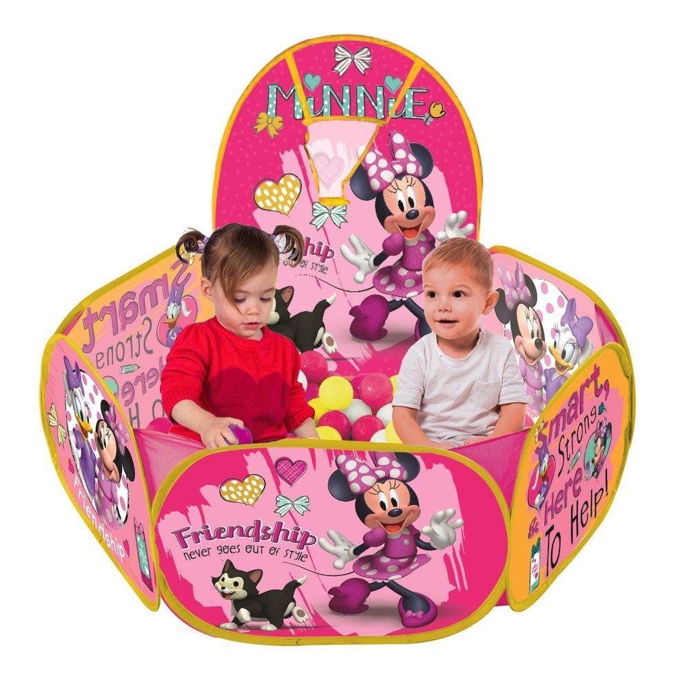 Piscina De Bolinha Minnie Disney Com Cesta 100Bolinhas Zipp