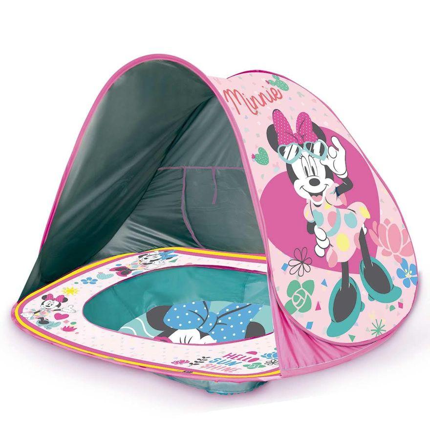 Piscina de Praia Infantil Com Cobertura Uv Minnie Zippy Toys