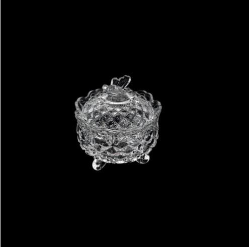 Potiche Decorativo com pé de Cristal  de Chumbo