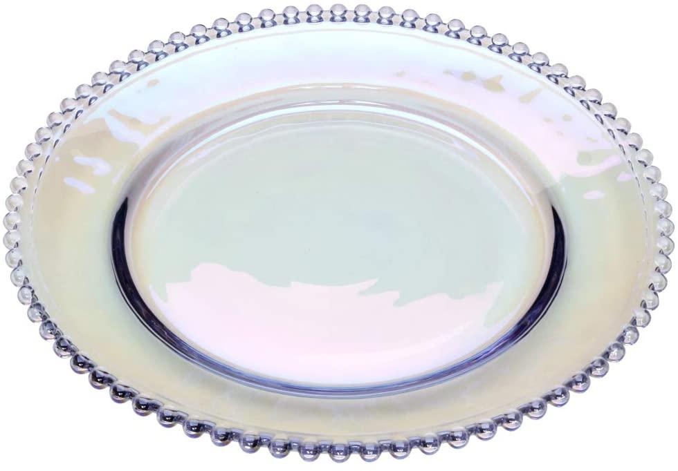 Prato Cristal de Chumbo Pearl Rainbow 20cm - Wolff