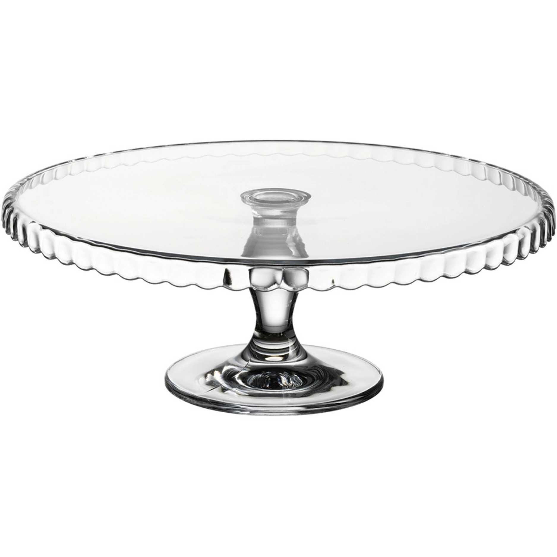 Prato de Vidro para Bolo com Pé 32cm - Patisserie