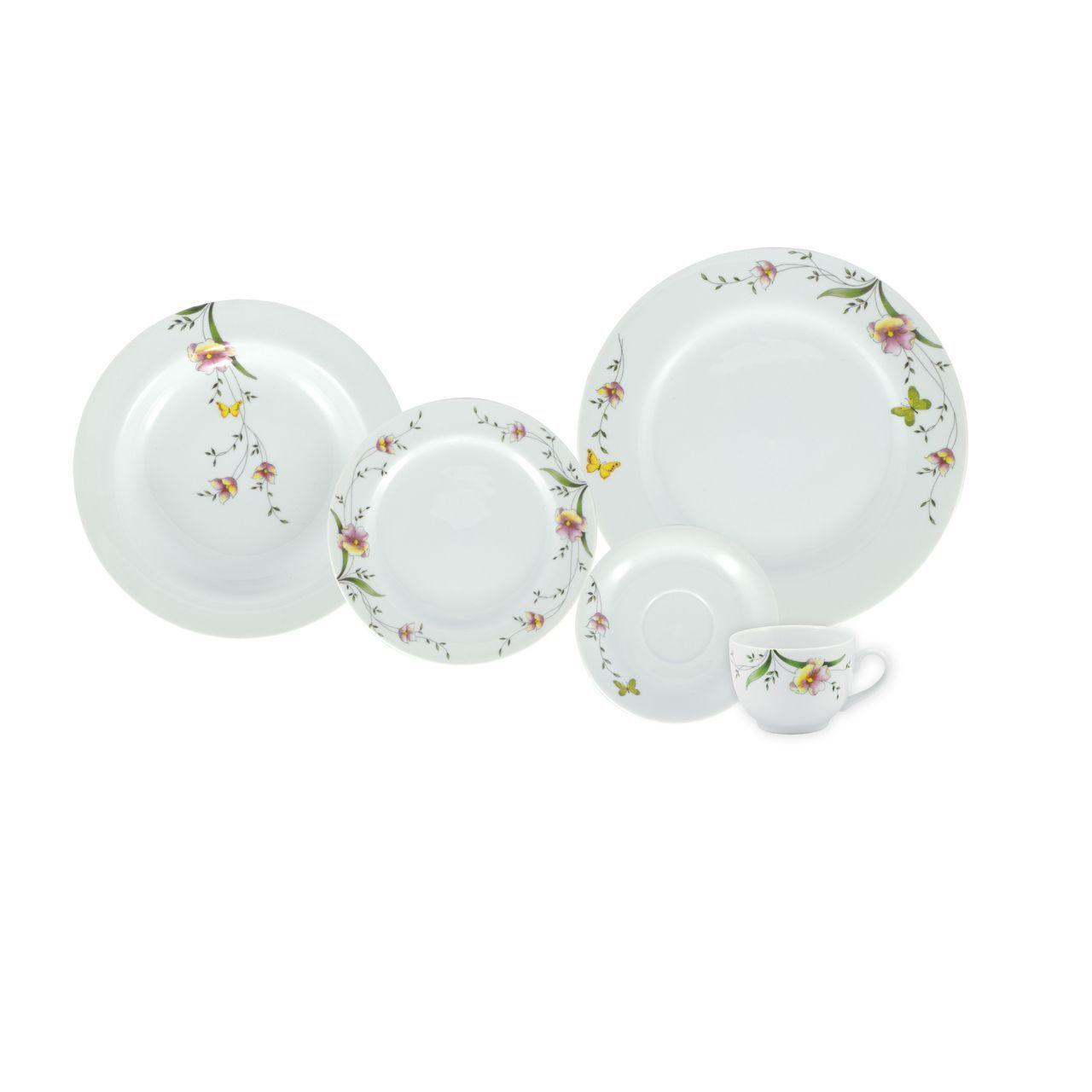 Serviço De Jantar E Chá Em Porcelana 20 Peças - Carmen Schmidt - Porcelana Schmidt