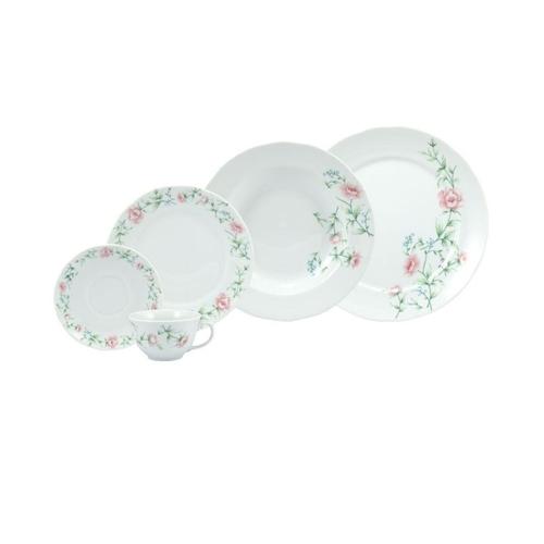 Serviço De Jantar E Chá Em Porcelana 20 Peças Tereza Schmidt