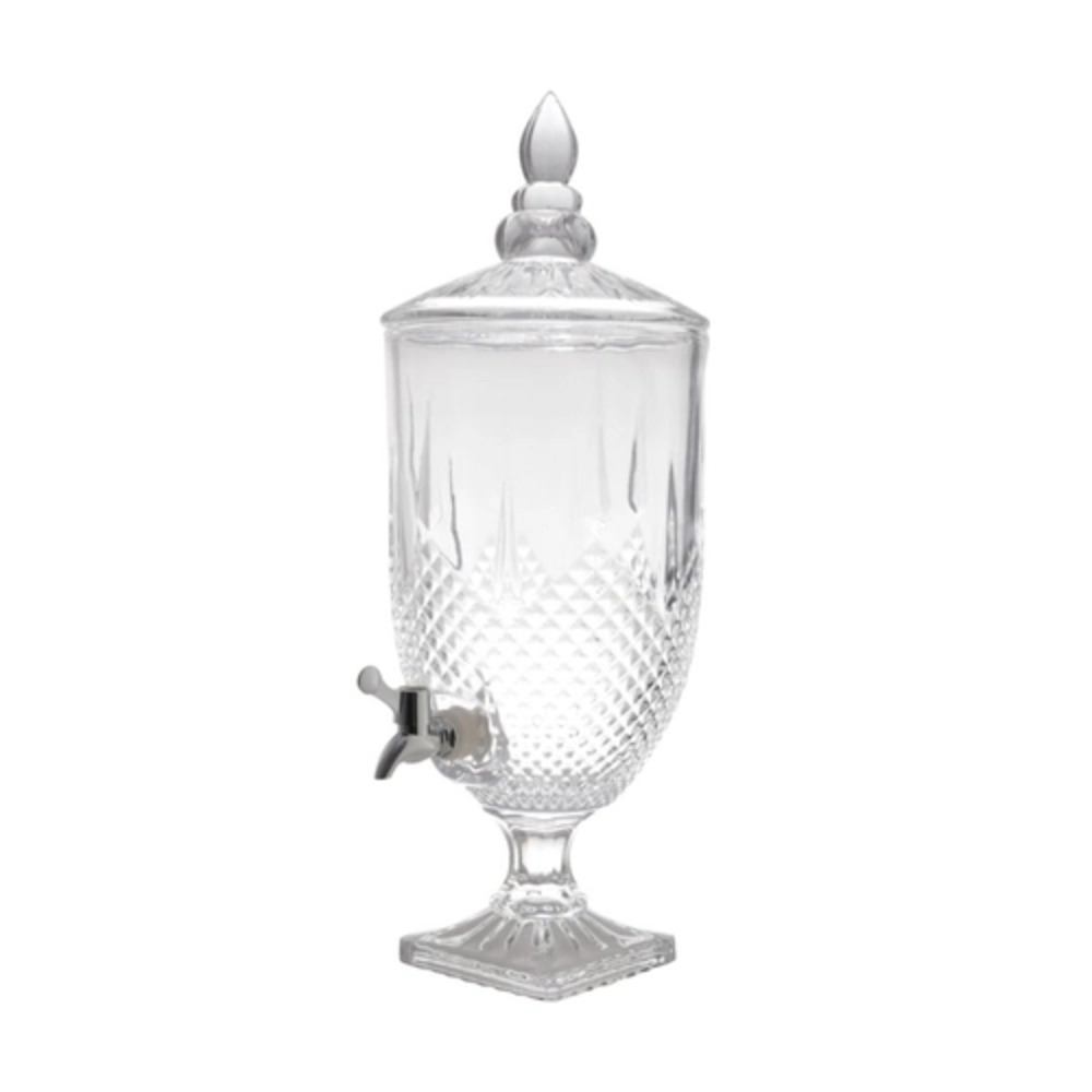 Suqueira Dispensador de Bebidas Diamante de Cristal Transparente 4,4L - Lyor