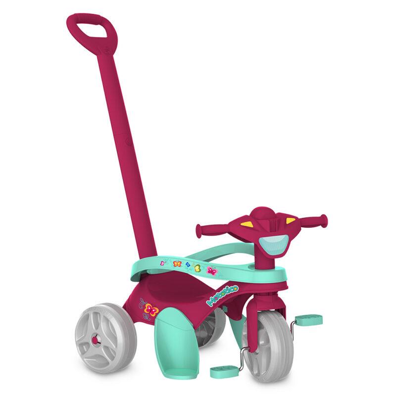 Triciclo Mototico Bandeirante - Passeio e Pedal - Rosa