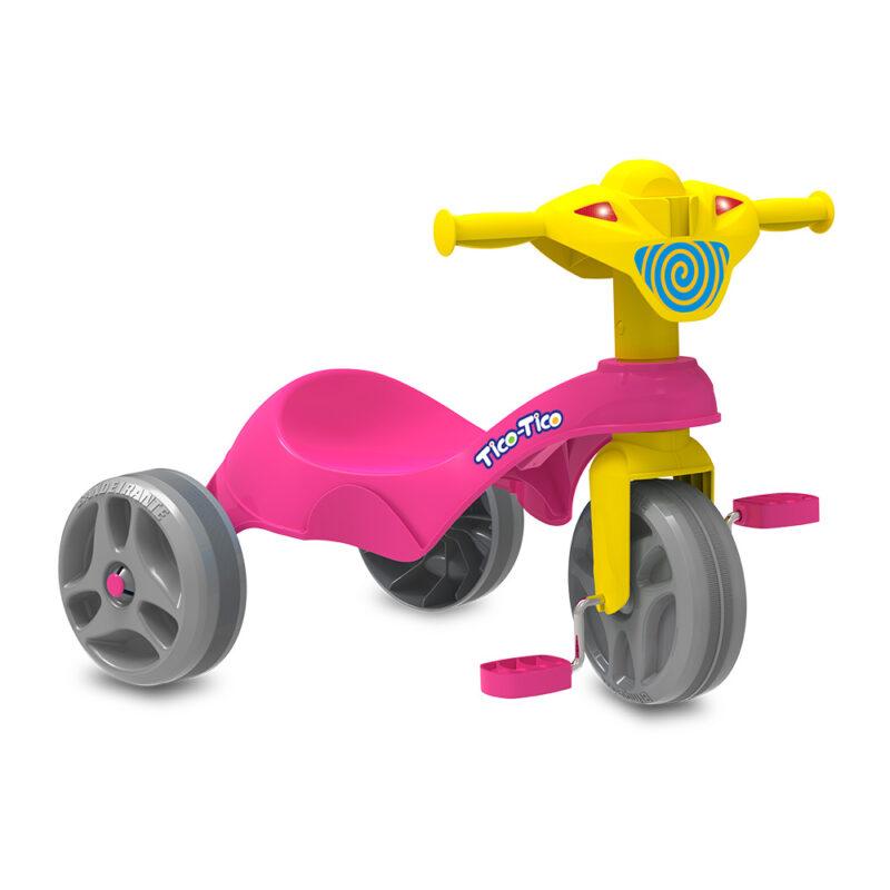 Triciclo Tico-Tico Club - Rosa - Bandeirante