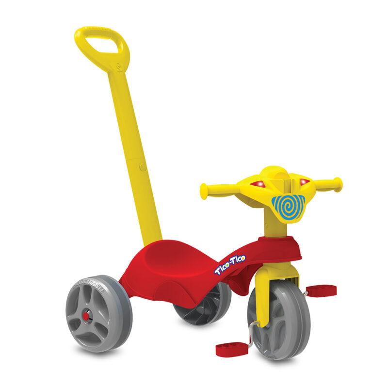 Triciclo Tico - Tico Com Haste - Vermelho - Bandeirante