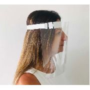 Máscara Protetora Facial Transparente Kit C/ 6 Un.