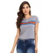 Blusa Feminina Manga Curta Camiseta Com Estampa Influencer Conexão