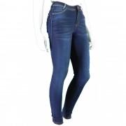 Calça Feminina Jeans Cintura Alta Média Com Lycra Conexão