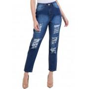 Calça Feminina Jeans Denim Destroyd  Mood Conexão