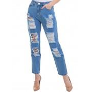 Calça Feminina Jeans Mood Denim Claro Conexão