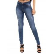 Calça Feminina Jeans Skinny Total Confort Conexão