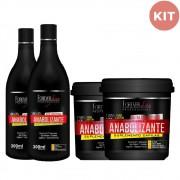 Forever Liss Anabolizante Kit Shampoo 300 ml + Máscara 240g