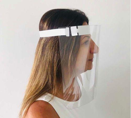 Máscara Protetora Facial Transparente Kit C/ 10 Un.