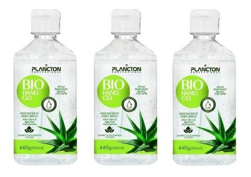 Álcool Gel 70% Antisséptico Kit C/ 3 Un. Envio Imediato