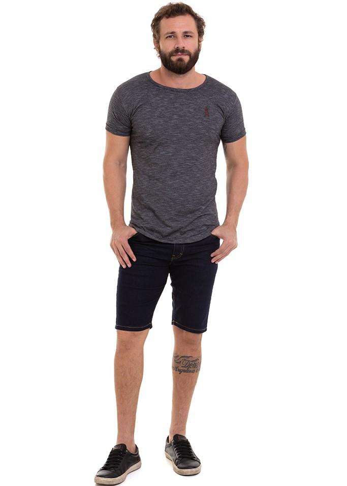Bermuda Masculina Jeans Denim Escuro Conexão