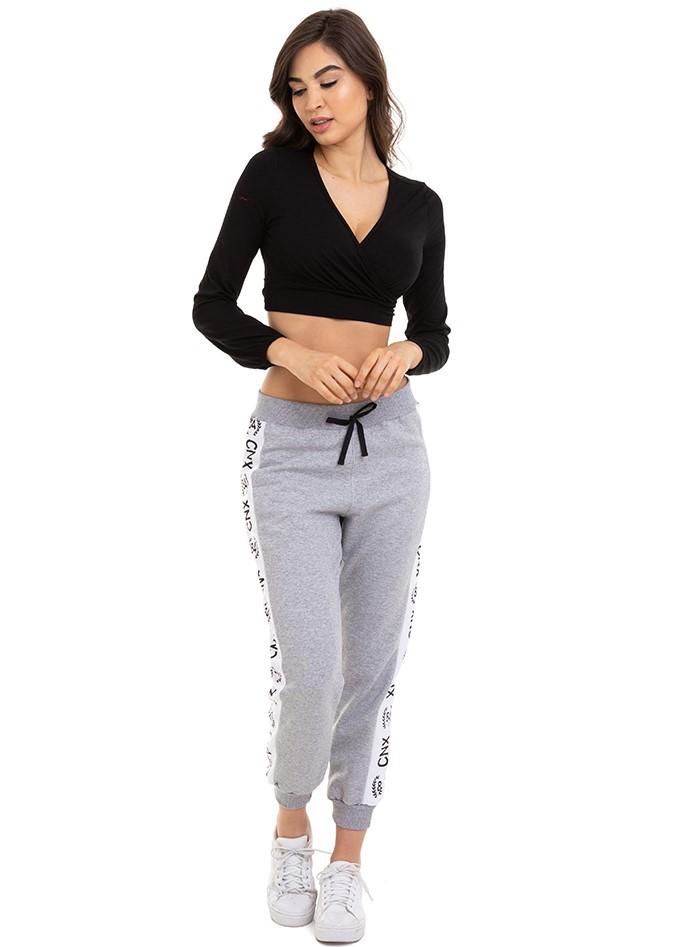 Blusa Feminina Cropped Transpassada Decote V Conexão