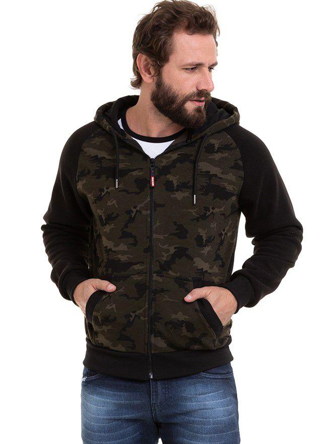 Blusa de Frio Masculino Moletom Camuflado Conexão