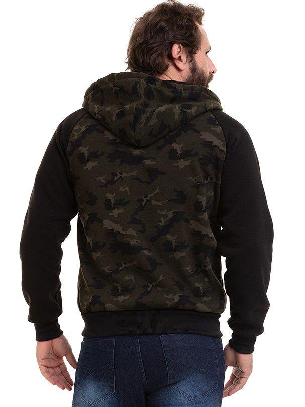Blusa Masculina De Frio Moletom Camuflado Conexão