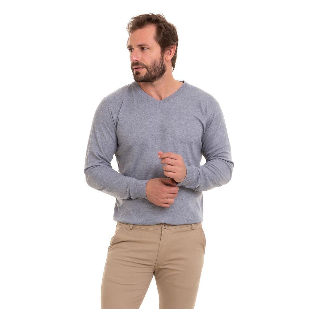 Blusa Suéter Tricô De Frio Masculino Kit C/3 Conexão
