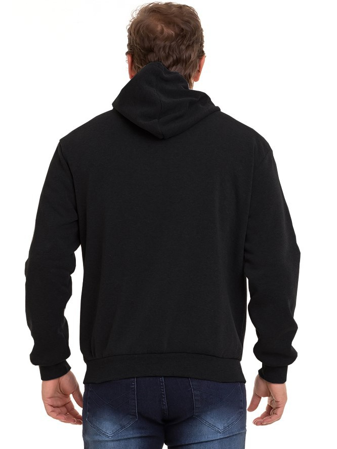Blusão de Frio Masculino Moletom Com Silk Flanelado Conexão
