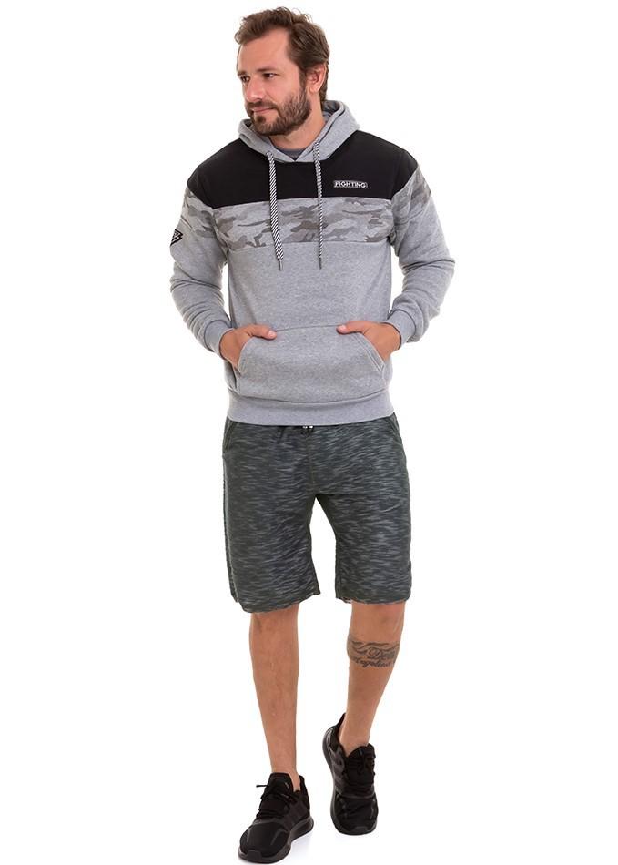 Blusão De Frio Masculino Moletom Forrado Com Capuz Conexão