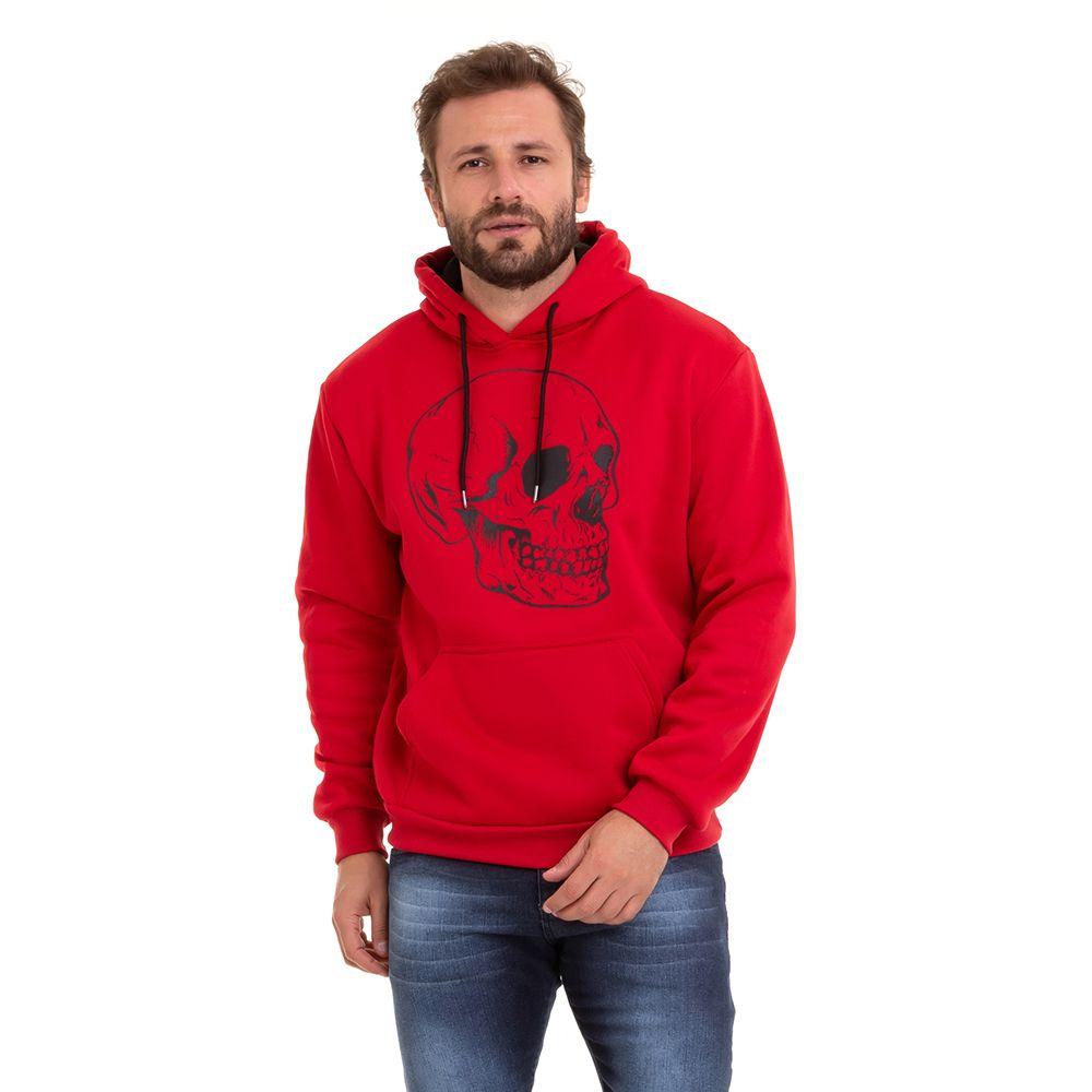 Blusão De Moletom Com Capuz Masculino Inverno Conexão