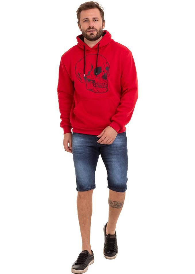 Blusa Masculina De Frio Moletom Flanelado Kit C/3  Conexão