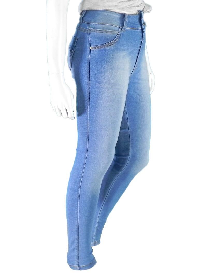 Calça Jeans Feminina Cintura Alta Lycra Premium Conexão