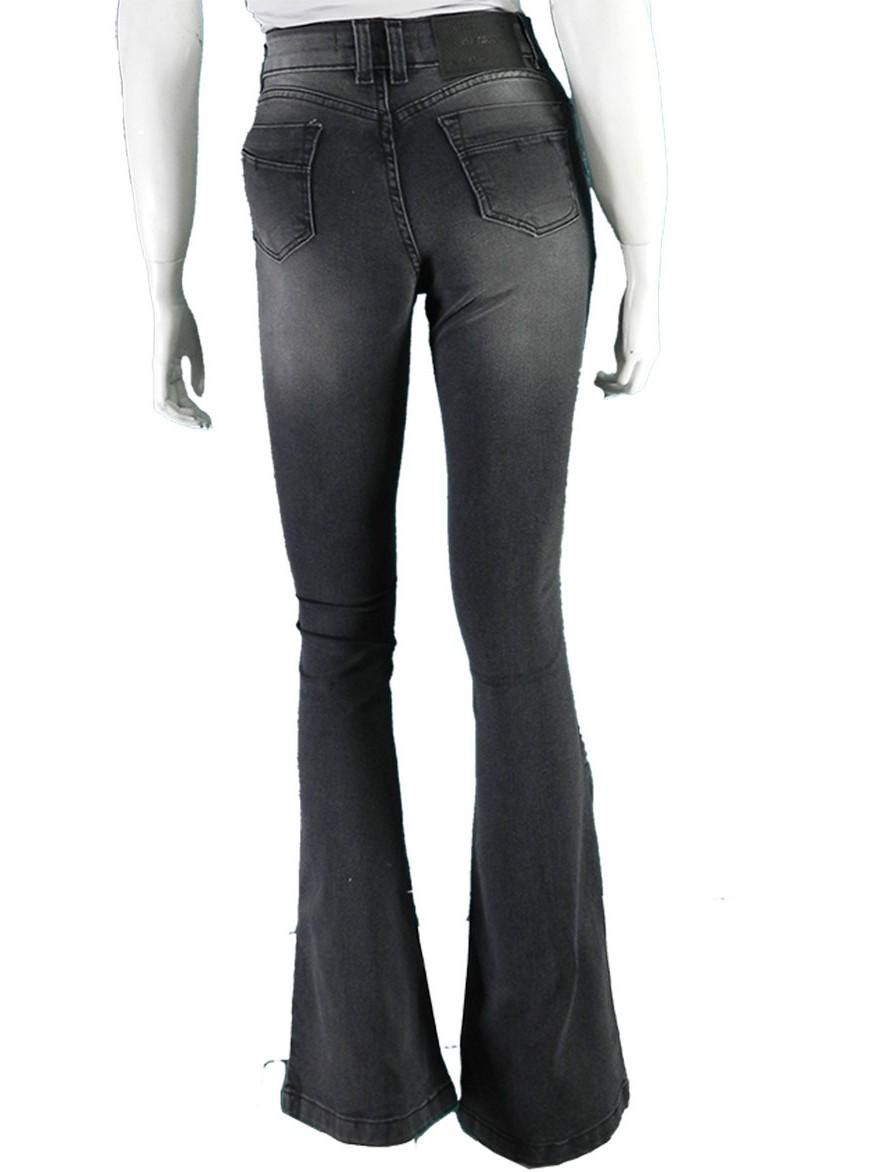 Calça Feminina Jeans Premium  Flare Hot Pants Conexão