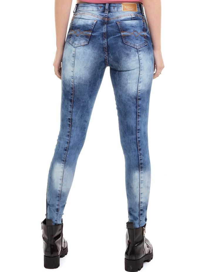Calça Feminina Jeans Skinny Com Recorte Conexão