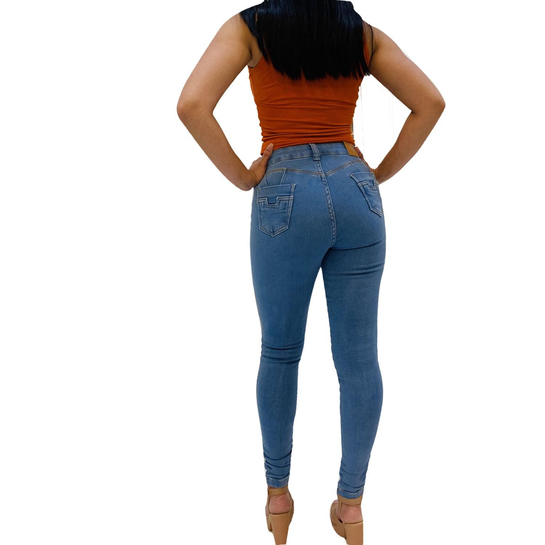 Calça Feminina Jeans Skinny Hot Pants Destroyed Empina Bumbum Conexão