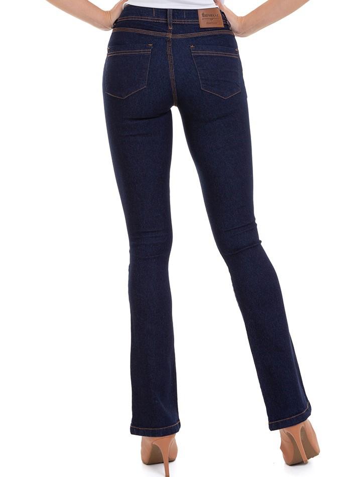 Calça Feminina Jeans Flare Básica Conexão