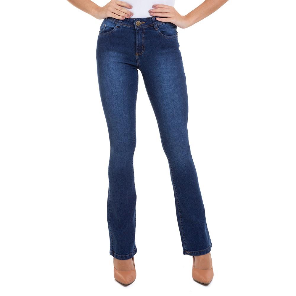 Calça Jeans Feminina Flare Destroyer Básico Conexão