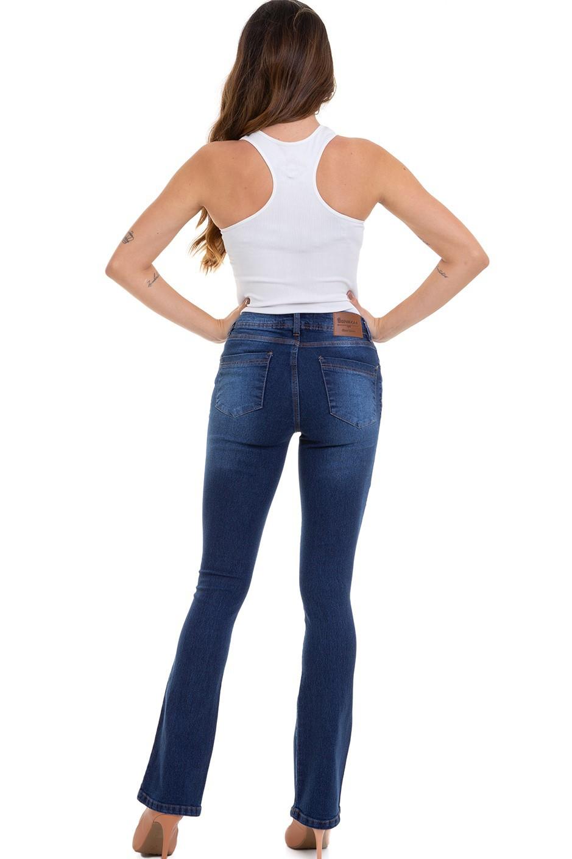 Calça Feminina Jeans Boot Cut Cintura Média Conexão