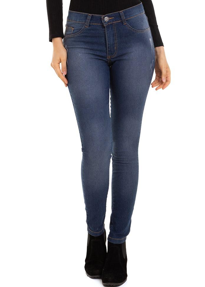 Calça Feminina Jeans Skinny Básica Conexão