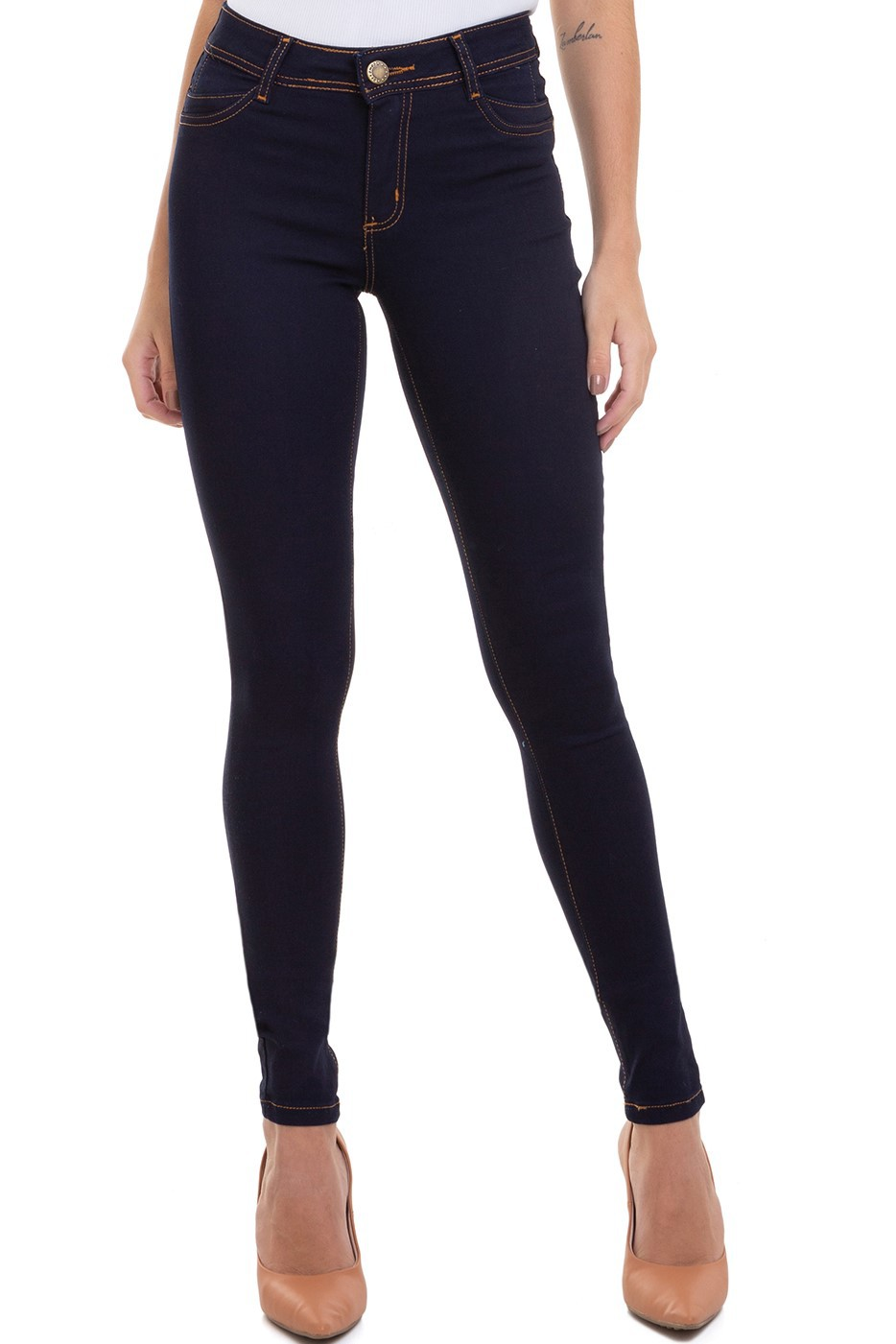 Calça Jeans Feminina Skinny Levanta Bumbum Conexão
