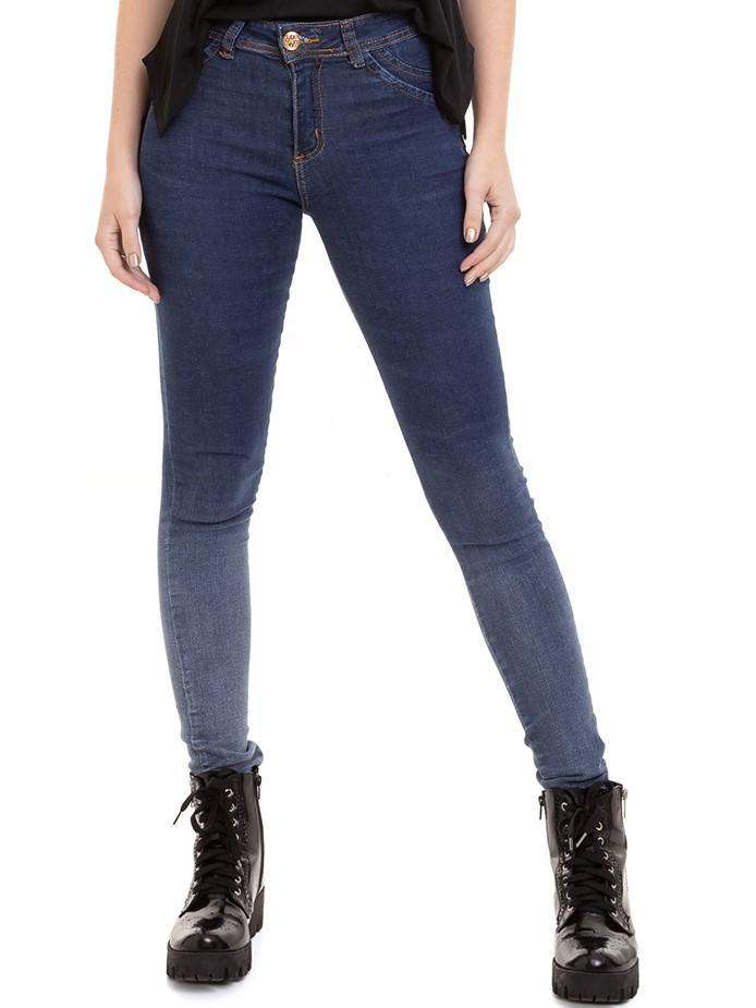 Calça Jeans Feminino Degradê Levanta Bumbum Conexão