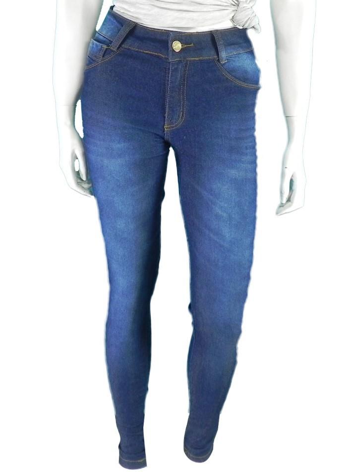 Calça Jeans Hot Pants Cintura Alta Com Elastano Super Lipo Conexão