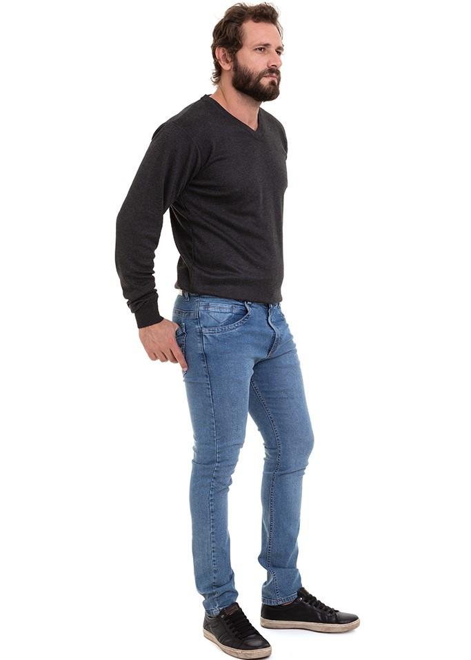 Calça Jeans Masculina Slim Original Elastano Lycra Conexão