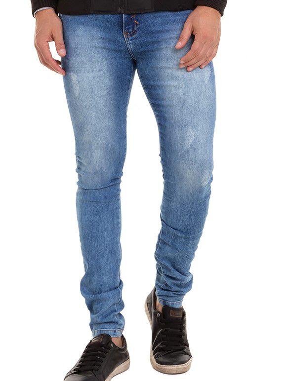 Calça Masculina Jeans Confort  Denim Claro Conexão
