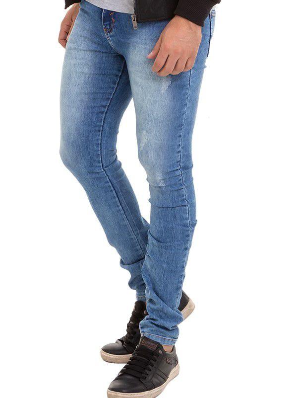 Calça Jeans Masculino Confort  Denim Claro Conexão