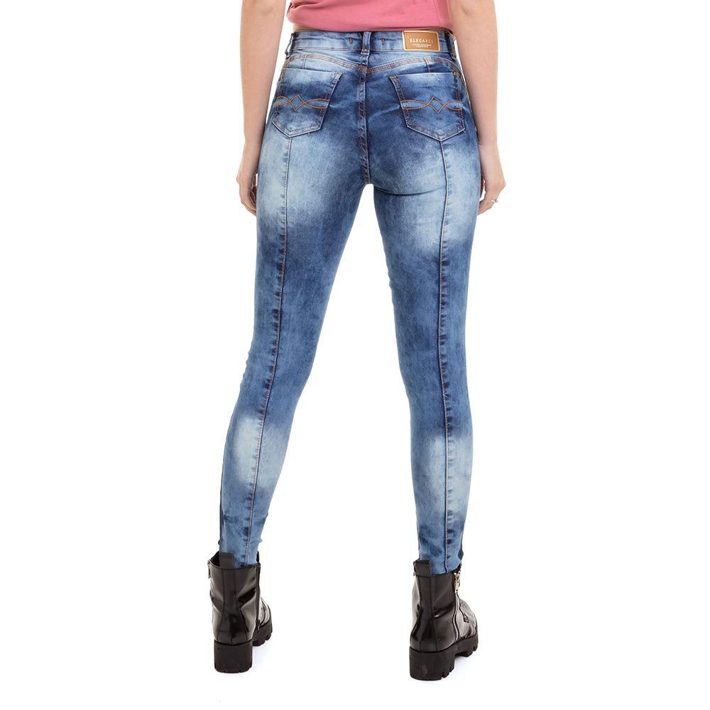 Calça Jeans Skinny Recorte Feminina Conexão