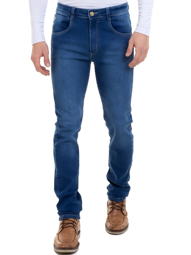 Calça Masculina Jeans Skinny Confort Conexão