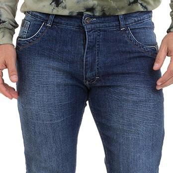 Calça Masculina Jeans Skinny Detalhe Couro Special Concept  Conexão