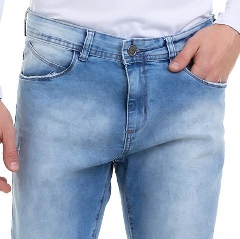 Calça Masculina Jeans Premium Destroyed  Skinny Delavê Conexão