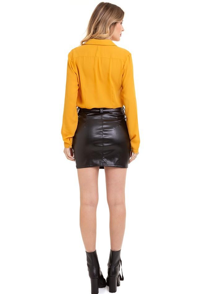 Blusa Feminina Camisa Manga Longa Básica Conexão